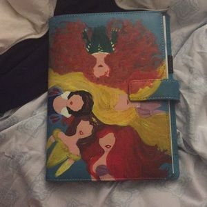 Disney princess hand painted journal/calendar